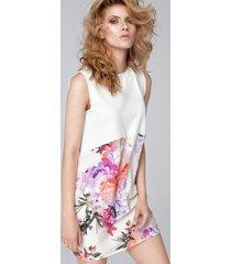sukienka z panelem w kwiaty