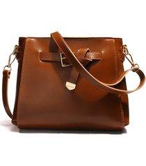 crossbody donna vintage borsa secchio borsa solid retro shoulder borsa