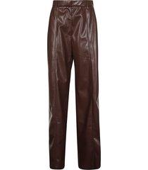 nanushka cleo maxi tailored wide leg trousers