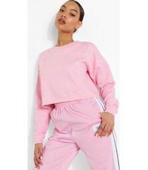 basic korte sweater, pink