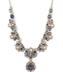 """marchesa crystal & imitation pearl cluster lariat necklace, 16"""" + 3"""" extender"""