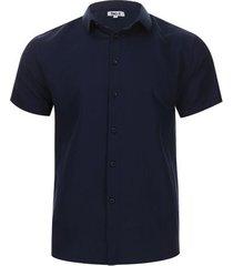 camisa formal unicolor color azul, talla xl