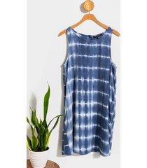 allie tie dye shift dress - blue