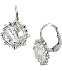 anzie dew drop snowflake white topaz drop earrings in silver at nordstrom