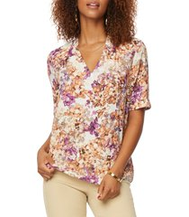 nydj charming v-neck top, size small regular in newberry springs at nordstrom