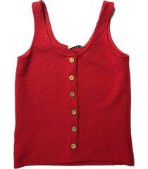 freewear singlet uni knoopjes rood | freewear rood