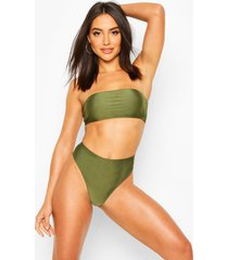 essentials mix and match high leg bikini brief, khaki