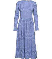 flexi pop docca jurk knielengte blauw mads nørgaard