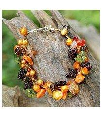 multi-gemstone beaded bracelet, 'fruits of summer' (thailand)