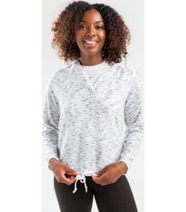 demie tie bottom sweatshirt hoodie - white