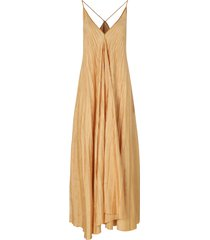forte forte plisse satin jacquard dress