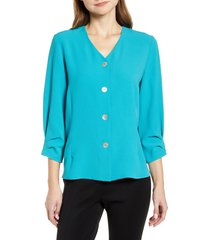 ming wang v-neck blouse, size x-large in bahama at nordstrom