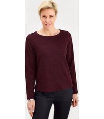 sweatshirt mona zwart::rood
