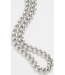 maurices womens chunky silver chain necklace gray