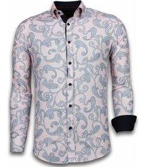 overhemd lange mouw tony backer blouse baroque pattern