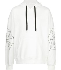 haculla sugar drop shoulder hoodie - white