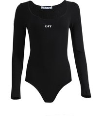 black rib bodysuit