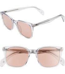 men's rag & bone 52mm sunglasses - grey
