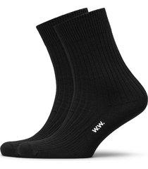 aiden 2-pack socks underwear socks regular socks svart wood wood