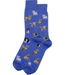 hot sox men's dog crew socks
