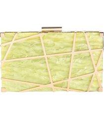 bolsa clutch de acrílico isla galerias marmorizada cor mellow yellow