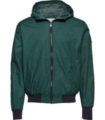 basswood hood jacket dun jack groen knowledge cotton apparel