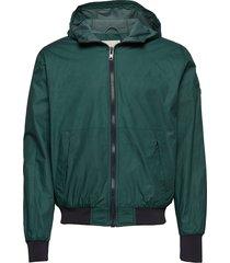sporty look hood jacket - gots/vega dun jack groen knowledge cotton apparel