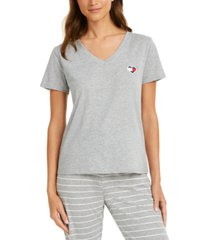 tommy hilfiger logo heart flag pajama t-shirt