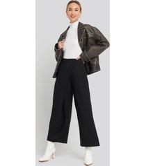 trendyol wide leg trousers - black