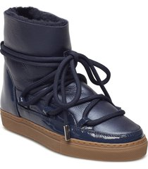 inuikii sneaker gloss shoes boots ankle boots ankle boot - flat blå inuikii