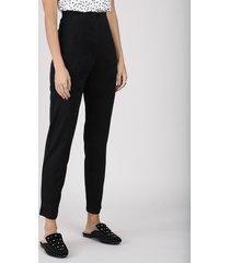 calça legging feminina cintura alta em suede preta