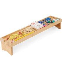 mind reader bamboo keyboard desk organizer, brown
