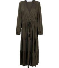max mara v-neck tied-waist dress