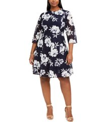 jessica howard plus size floral lace fit & flare dress