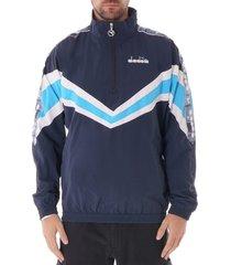 jacket 1/2 zip mvb - blue denim 175280-60065