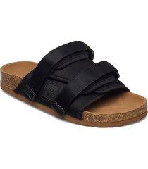 svea slip in sandal shoes summer shoes flat sandals svart svea