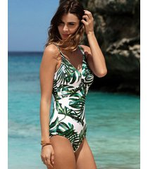 palm valley underwire one-piece swimsuit