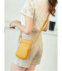 bolso de embrague doble de diseño casual con cremallera