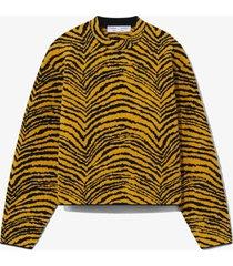proenza schouler white label animal jacquard sweater black/gold/yellow m