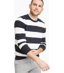 tommy hilfiger men's essential rugby sweater sky captain - m