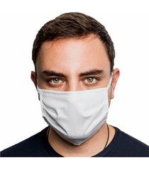 máscara protetora dagg dupla face reutilizável lavável com clipes nasal - branco