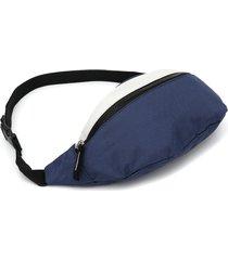 pochete clio style color block azul-marinho