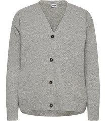 carla cardigan stickad tröja cardigan grå r-collection