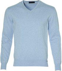 gentiluomo pullover - slim fit - blauw
