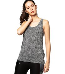 camiseta esqueleto  negra under armour w tech tank - twist