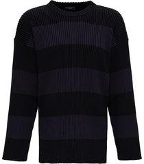 balenciaga bb oversize striped cotton sweater