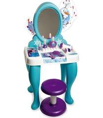 boneca penteadeira novabrink disney frozen - azul - feminino - dafiti