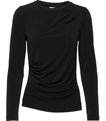 trude top t-shirts & tops long-sleeved zwart inwear