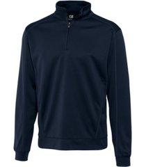 cutter & buck men's big & tall drytec edge half zip sweatshirt