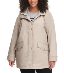 levi's trendy plus size hooded lightweight rain jacket